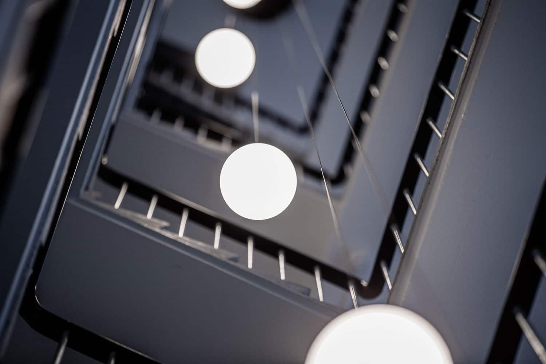 Billede af lamper i opgang på Nørrebro hvor lyset er designet af Lightplanner
